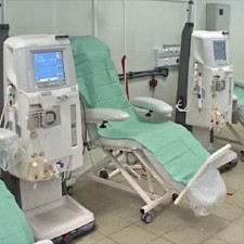 Preparation of water supply for hemodialysis machines