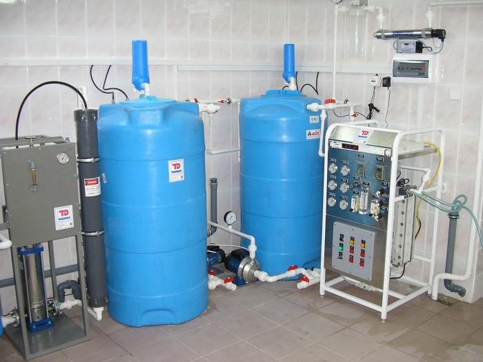Система получения,  хранения и распределения воды очищенной, Q=200л/час