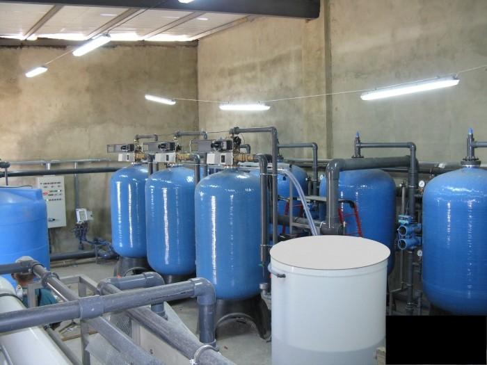 Система получения умягченной и обессоленной воды для производства фруктовых соков, Q=100м3/час