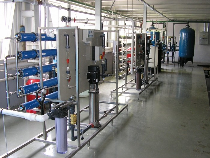 Acquisition system for the production of desalinated water batteries, Q = 2,5 m3 / h