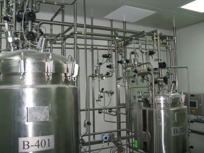 System of production, storage and distribution of purified water, Q = 1000 l / h