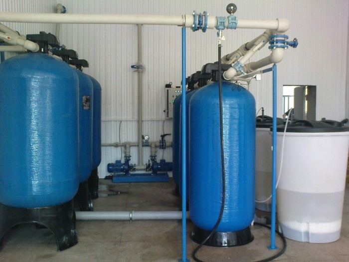 Water treatment System of for beer production, Q = 24 m3 / h