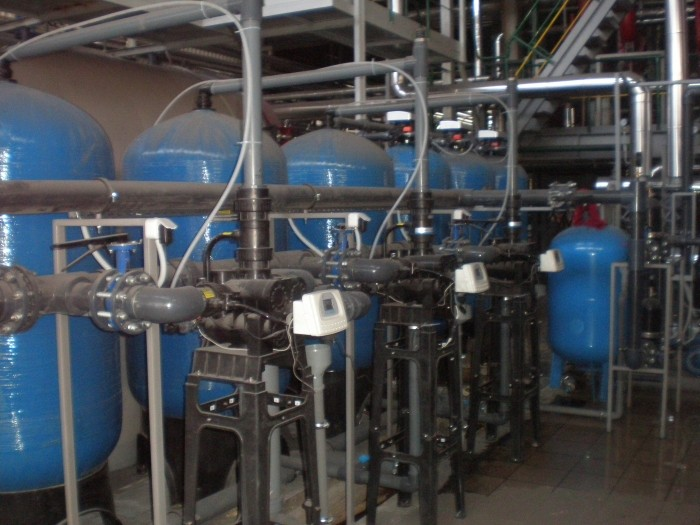 System of training make-up water for steam boilers, Q = 32 m3 / h