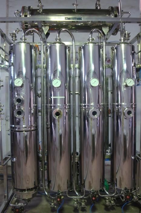 Система получения,  хранения и распределения воды для инъекций, Q=250 л / час