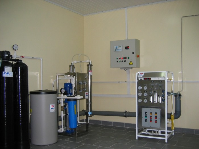 System production, storage and distribution of purified water, Q = 0,5 m3 / h