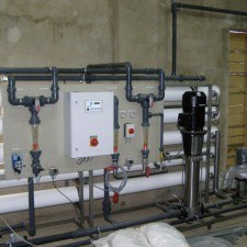 Acquisition system softened and desalinated water for the production of fruit juices, Q = 100m3 / h