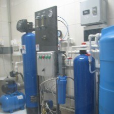 System of production, storage and distribution of purified water, Q = 60 l / h